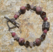 Pink and Brown Gemstone w/ Bali Focal