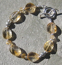 Faceted Citrine and Bali Silver