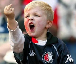 child giving the finger