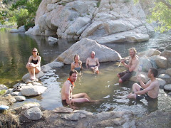 Enjoying the natural hot springs!