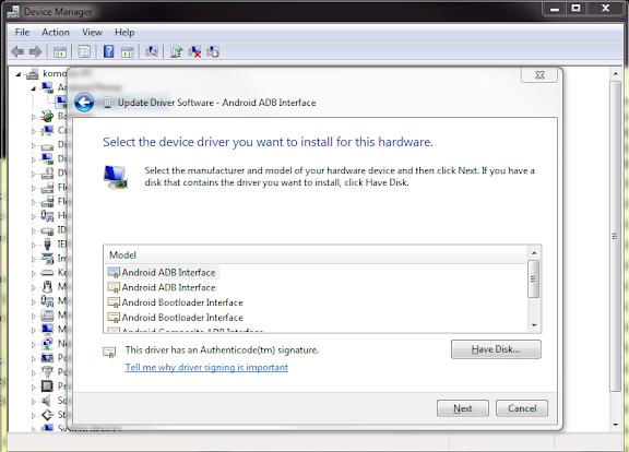Samsung Android Adb Interface Driver
