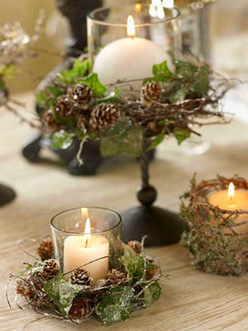 Decoracion de tartas galletas y cupcakes centro de mesa - Decoracion adornos navidenos ...