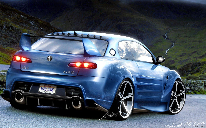 Alfa+Romeo+Mad+Tuning+HD+wallpaper Güzel hd masaüstü modifiyeli araba resimleri