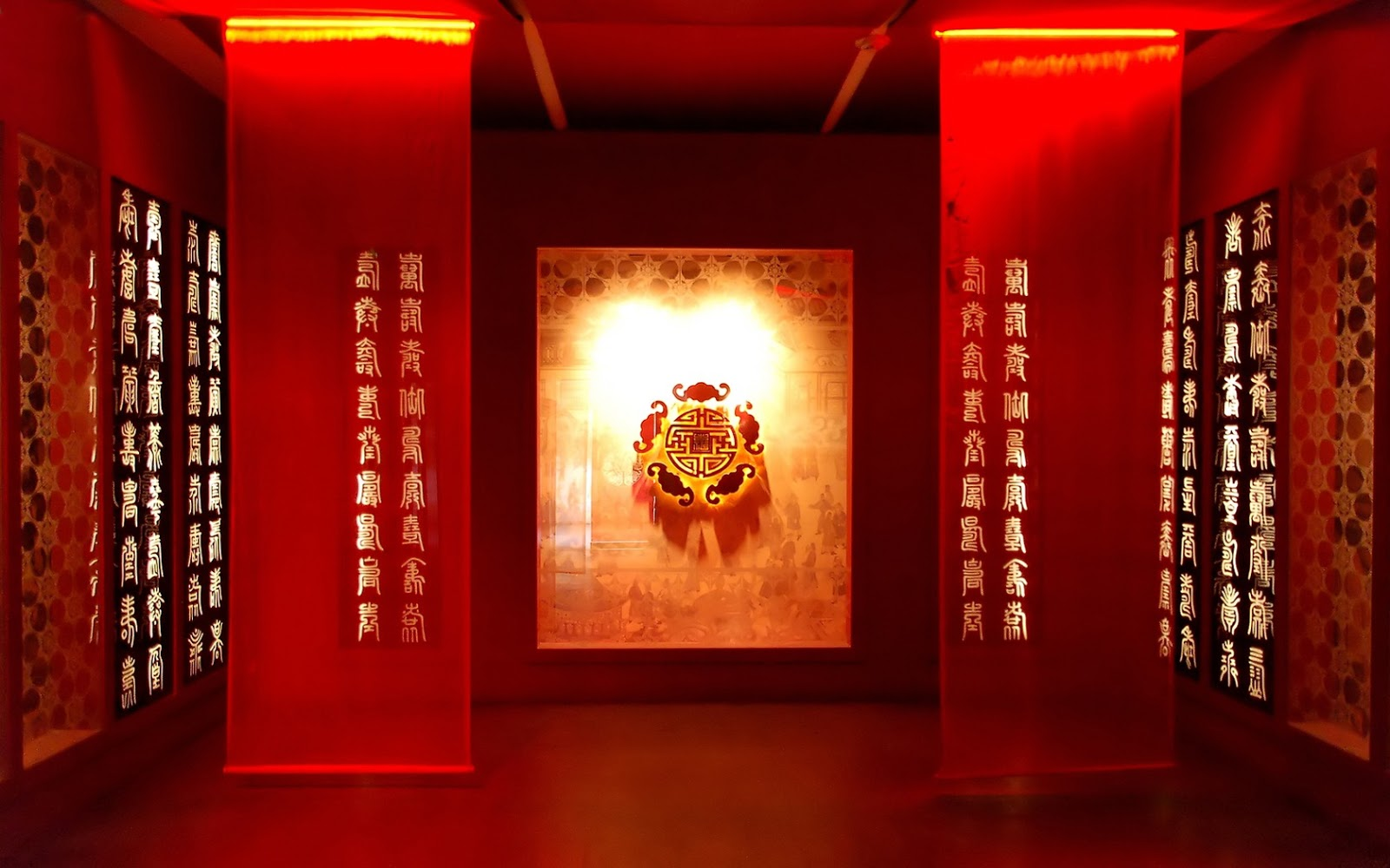 Red Asian Temple Caligraphy HD Wallpapers | Epic Desktop Backgrounds