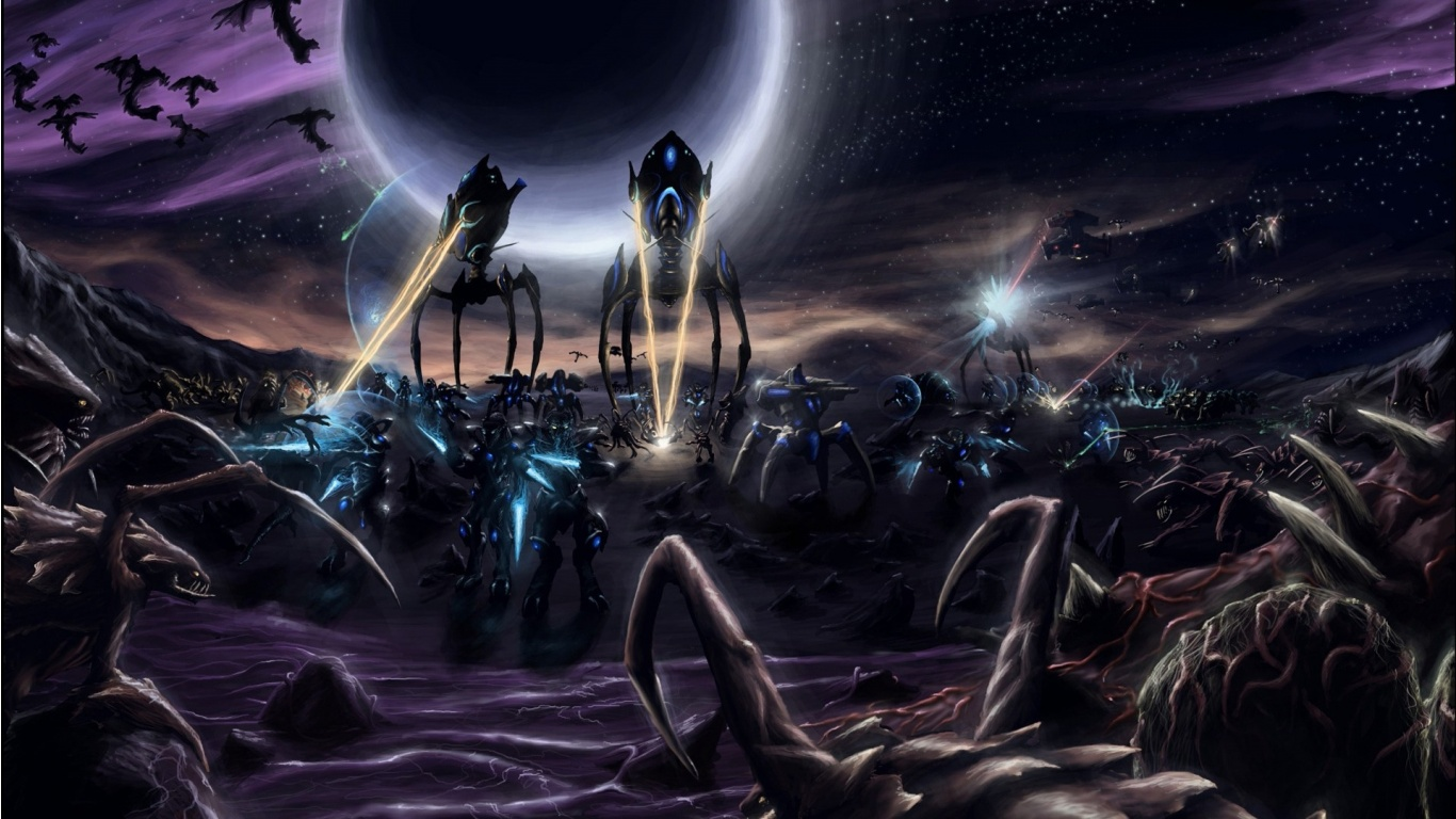 Download wallpaper game starcraft 2 battle aliens hd wallpapers epic