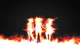 3D Fire Girls Amazing Flame Effect EPIC HD Wallpaper Babes