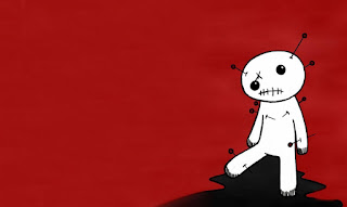 Sad Vodoo Doll And Needels EMO Red 3D Drawing HD Wallpaper