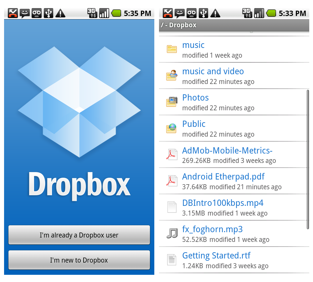 Always have your stuff when you need it with @Dropbox. 2GB account is free