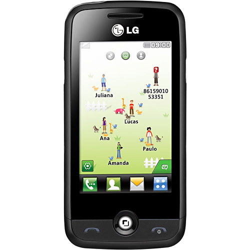 LG Neosmart C300 Preto Vermelho Celular Direto - imagens do celular lg c300