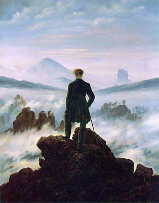 Wanderer above the Sea of Fog is true to the Romantic style and Friedrich's