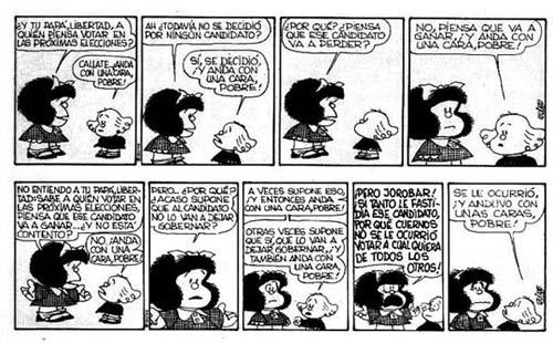 Fotos de historietas de Mafalda con color - Imagui