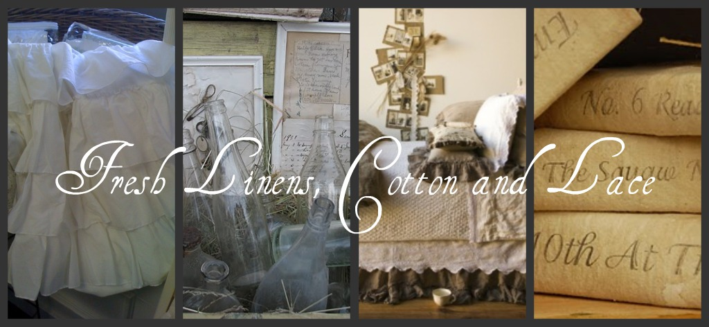 Fresh Linens, Cotton and Lace