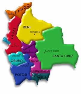 Mapa Poltico de Bolivia  Bolivia Informa