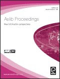 ASLIB PROCEEDINGS: NEW INFORMATION PERSPECTIVE