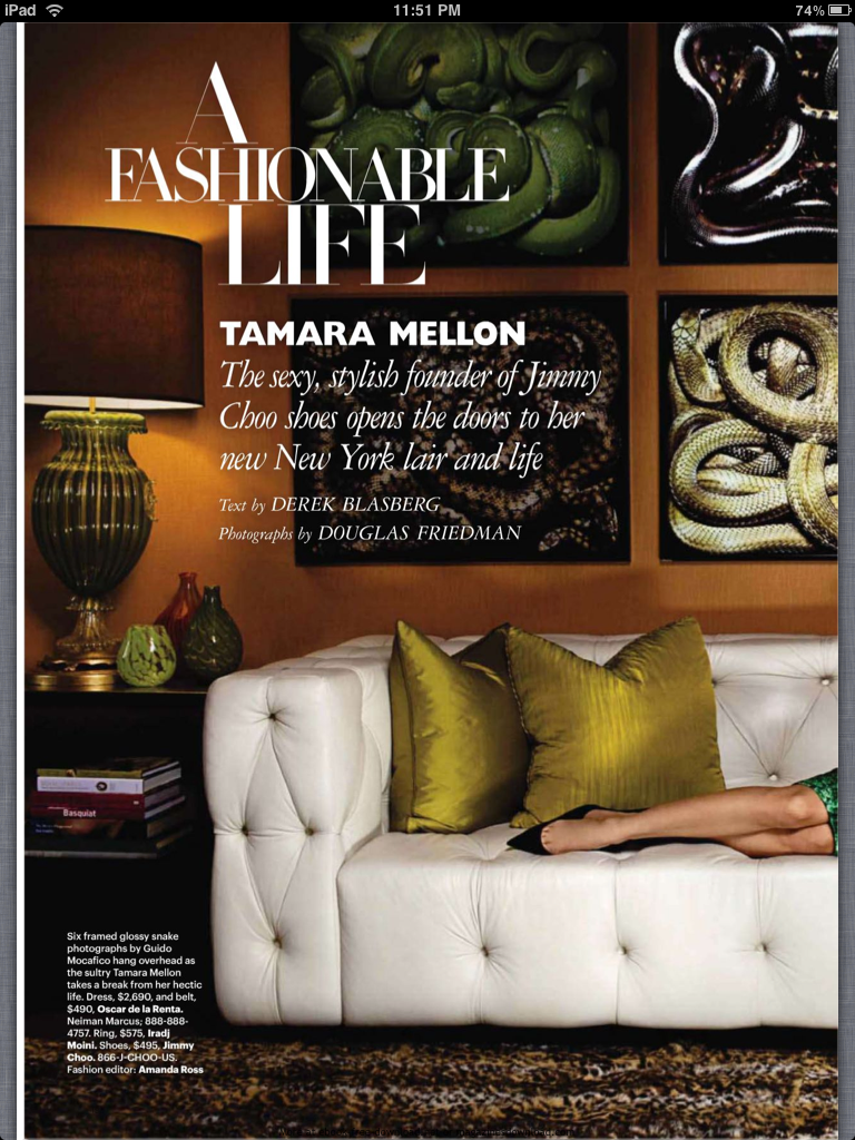 THE SEXY CHIC OPULENT TAMARA MELLONS HOME