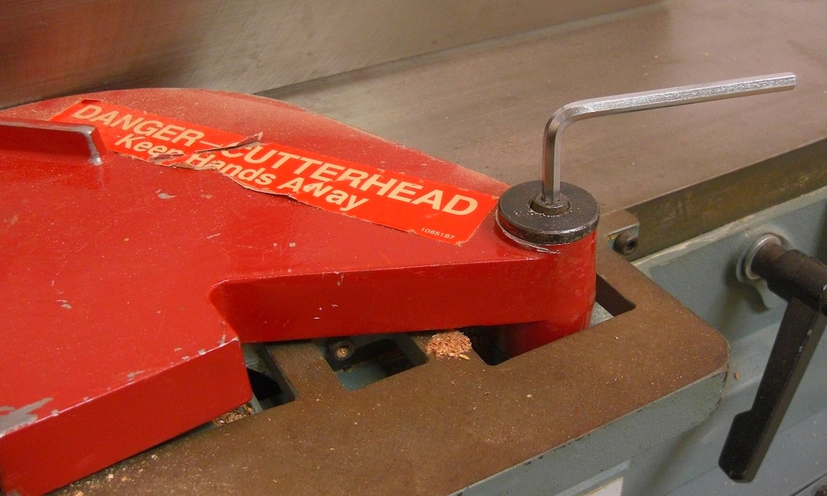 First Remove The Guard By Loosening The Allen Head Bolt That Secures It In Place