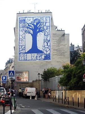 Rue Mouffetard Rue Descartes mural