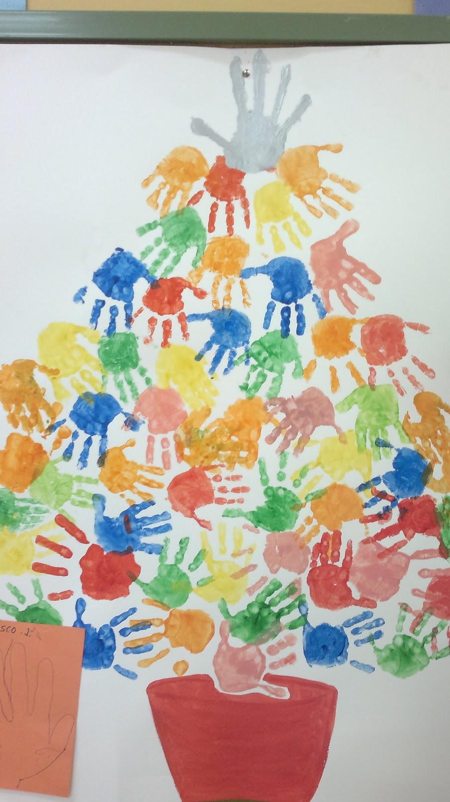 Proyectos en san carlos borromeo actividades proyecto for Arbol de navidad mural