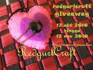 :: Redgurl 1st Giveaway ::