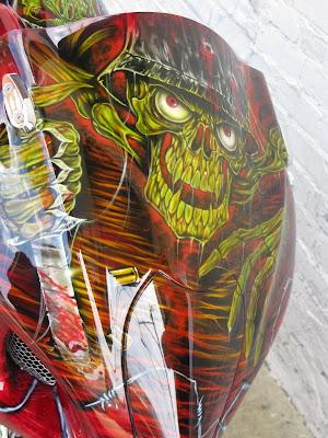 Graffiti Alphabet skull wearing a hat