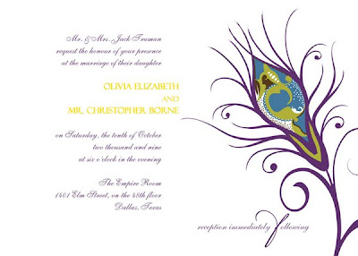 peacock theme wedding invitations