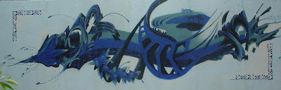 Cool 3d Blue Graffiti Alphabet Arrow