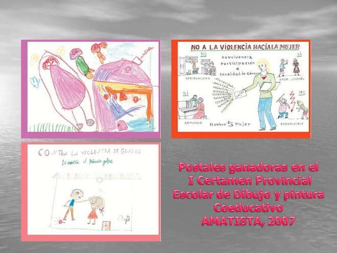 Dibujos ganadores del I Certamne de Dibujo y pintura Coeducativos