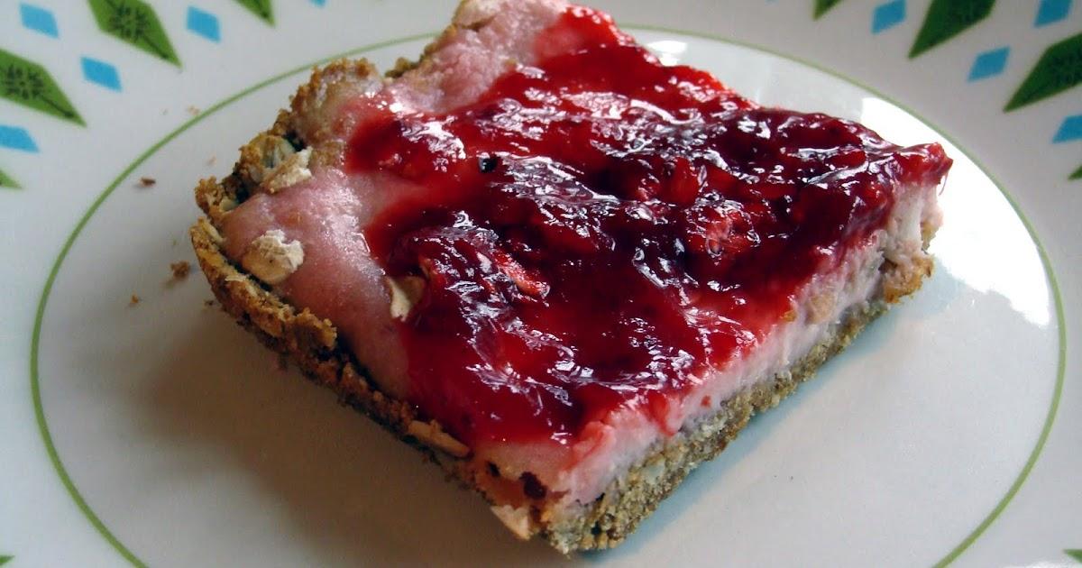 The Maine Vegan: Strawberry Lemon Cheesecake Bars