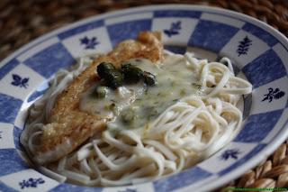 Filet d'églefin sauce aux câpres de pissenlits