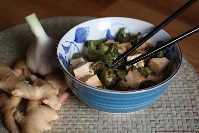 Sauté de berce au tofu