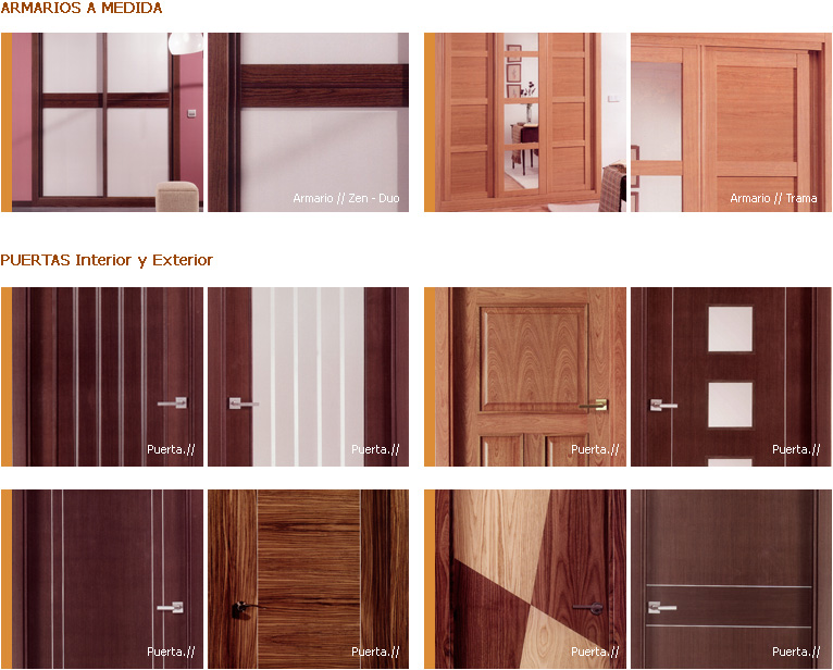 Suritama variedad de productos for Puertas modernas para dormitorios