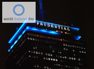 Prudential Center blue lights