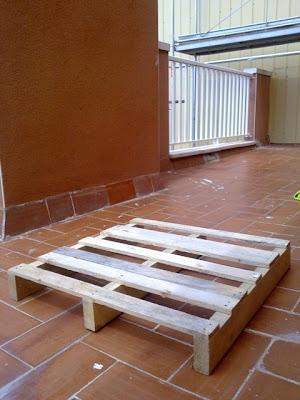 Hecho a mano: Unos palés para la terraza