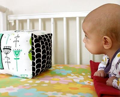 retales, guata, juguetes infantiles, cubo de tela