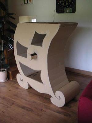 Como hacer una estantería de cartón