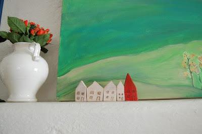en casa de, decoración, casa s pequeñas