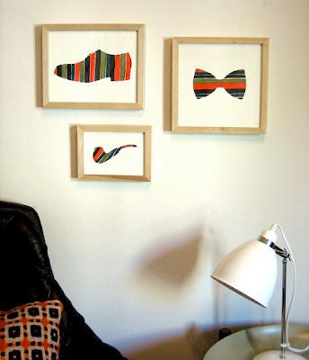 siluetas en negro, cuadros salón, pinturas, témperas