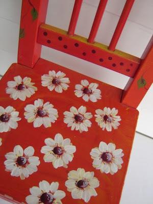 esty, silla roja, restauración