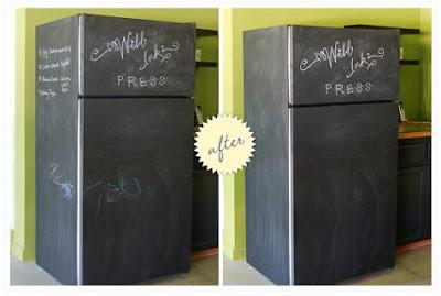 frigorífico, laminas de pizarra