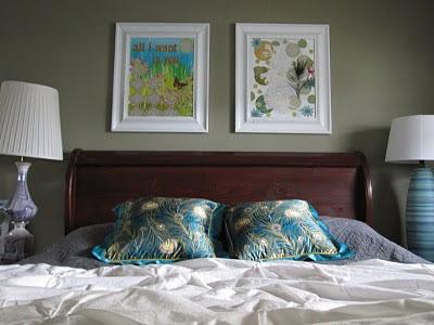 antes y después, reciclado de marcos, cuadros, laminas, manualidades