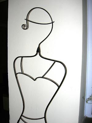 maniquí, hierro forjado, alambre