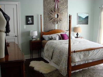 Detalles de una habitación romántica