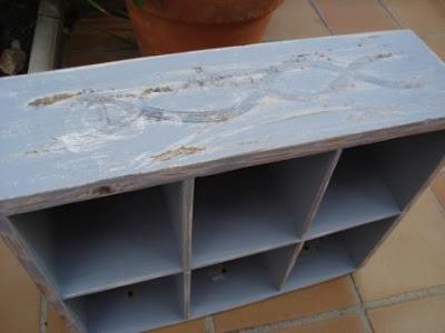 Reciclando: Antes y después de un cajón, imprimación, betún de judea