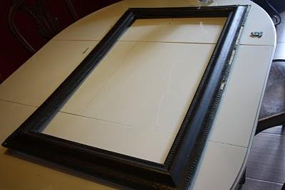 Antes y después de un marco, reciclado, telas, ikea