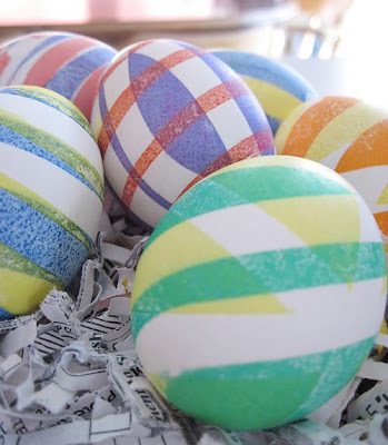 electrical tape dyed eggs