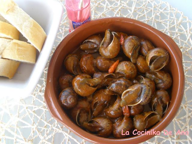 La cocinika de ana caracoles en salsa for Caracol de jardin alimentacion