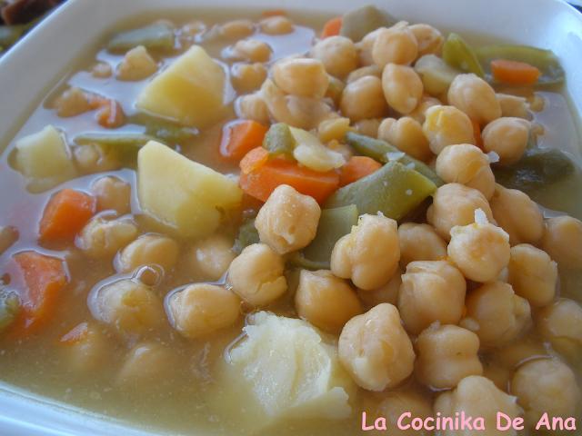 La cocinika de ana cocido de garbanzos - Cocido de garbanzos en olla express ...