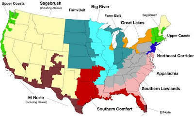 Chas Compilation A Really Cool Political Map Of The USA - Map of us cultures