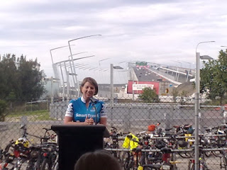 Premier Bligh speaking at the opening