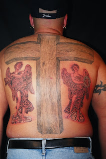 Angels and Cross tattoo